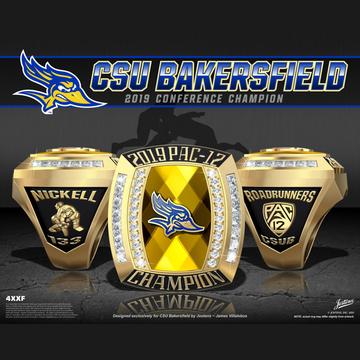 CSU Bakersfield Men's Wrestling 2019 Pac-12 Championship Ring