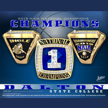 Dalton State College Men's Basketball 2015 National Championship Ring