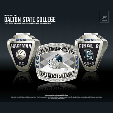 Dalton State College Men's Basketball 2017 SSAC Championship Ring