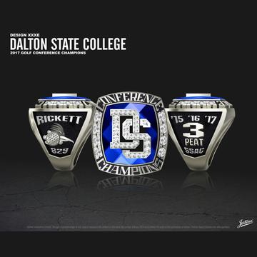 Dalton State College Men's Golf 2017 SSAC Championship Ring