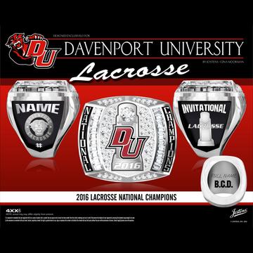 Davenport University Men's Lacrosse 2016 National Championship Ring