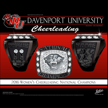 Davenport University Women's Cheer 2016 National Championship Ring
