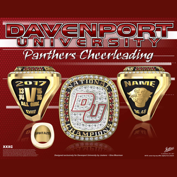 Davenport University Women's Cheer 2017 National Championship Ring