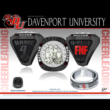 Davenport University Women's Cheer 2018 National Championship Ring