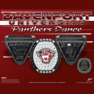 Davenport University Women's Dance 2017 National Championship Ring