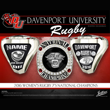 Davenport University Women's Rugby 2016 National Championship Ring