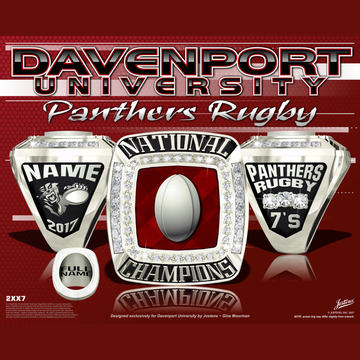 Davenport University Women's Rugby 2017 National Championship Ring