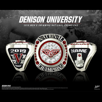 Denison University Men's Swimming & Diving 2019 National Championship Ring