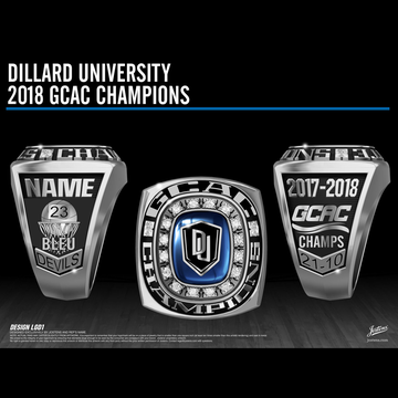Dillard University Men's Basketball 2018 GCAC Championship Ring