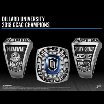 Dillard University Women's Basketball 2018 GCAC Championship Ring