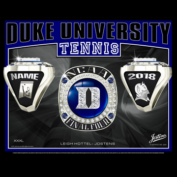 Duke University Men's Tennis 2018 Final Four Championship Ring
