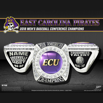 East Carolina University Men's Baseball 2018 American Championship Ring