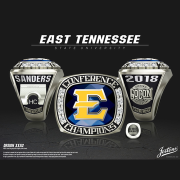 East Tennessee State University Men's Football 2018 SoCon Championship Ring