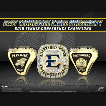 East Tennessee State University Men's Tennis 2019 SoCon Championship Ring