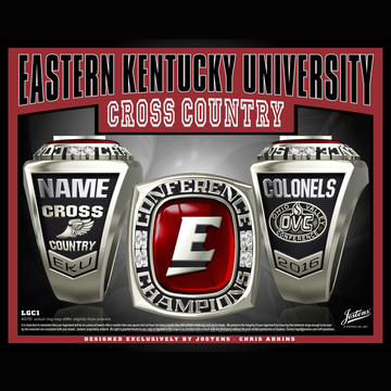 Eastern Kentucky University Men's Cross Country 2016 OVC Championship Ring