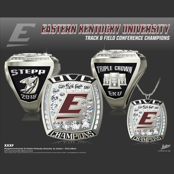 Eastern Kentucky University Men's Track & Field 2018 OVC Championship Ring