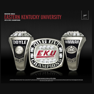 Eastern Kentucky University Women's Soccer 2016 OVC Championship Ring