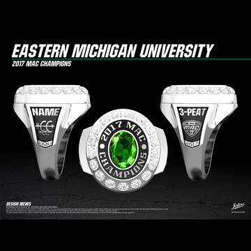 Eastern Michigan University Women's Cross Country 2017 MAC Championship Ring