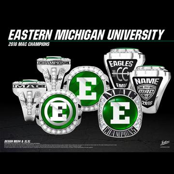 Eastern Michigan University Women's Cross Country 2018 MAC Championship Ring