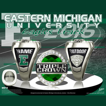 Eastern Michigan University Women's Track & Field 2016 MAC Championship Ring