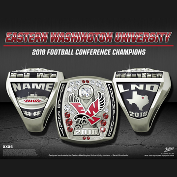 Eastern Washington University Men's Football 2018 Big Sky Championship Ring