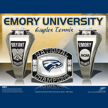 Emory University Women's Tennis 2016 National Championship Ring