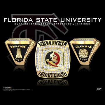 Florida State University Women's Soccer 2014 National Championship Ring