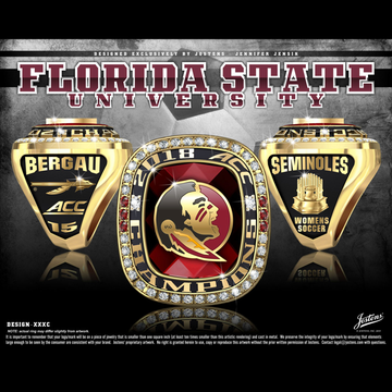 Florida State University Women's Soccer 2018 ACC Championship Ring