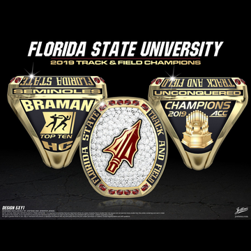 Florida State University Women's Track & Field 2019 ACC Championship Ring
