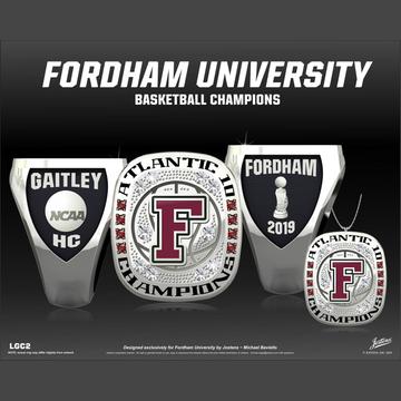 Fordham University Women's Basketball 2019 Atlantic 10 Championship Ring