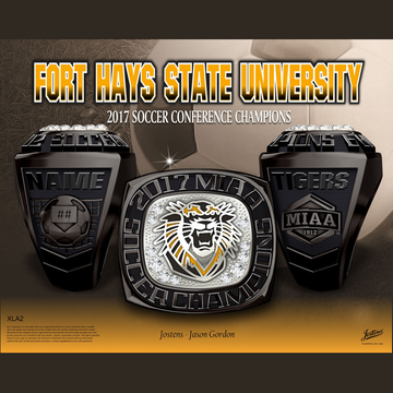 Fort Hays State University Men's Soccer 2017 MIAA Championship Ring