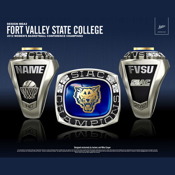 Fort Valley State College Women's Basketball 2012 SIAC Championship Ring