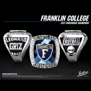 Franklin College Men's Football 2017 Heartland Championship Ring