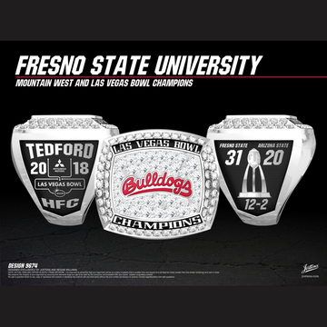 Fresno State University Men's Football 2018 Las Vegas Bowl Championship Ring