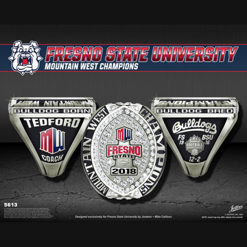 Fresno State University Men's Football 2018 Mountain West Championship Ring