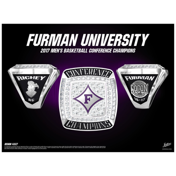Furman University Men's Basketball 2017 SoCon Championship Ring