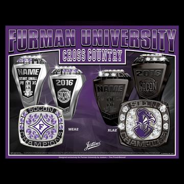 Furman University Men's Cross Country 2016 SoCon Championship Ring