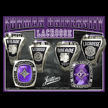 Furman University Men's Lacrosse 2017 Conference Championship Ring