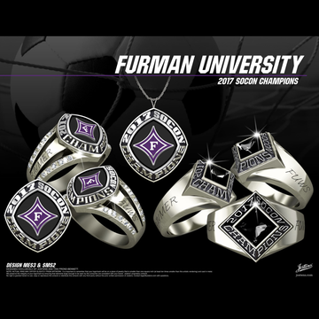 Furman University Women's Soccer 2017 SoCon Championship Ring