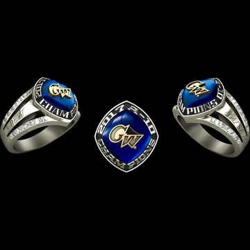 George Washington University Women's Basketball 2017 Atlantic 10 Championship Ring