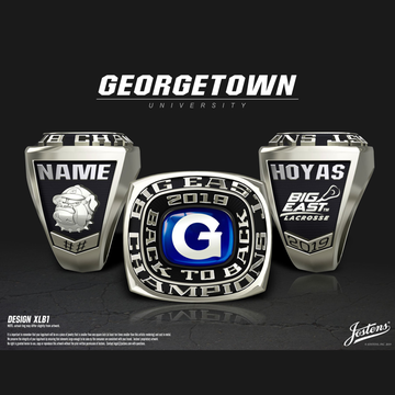 Georgetown University Men's Lacrosse 2019 Big East Championship Ring