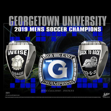 Georgetown University Men's Soccer 2018 Big East Championship Ring