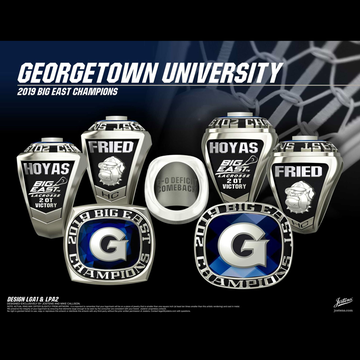 Georgetown University Women's Lacrosse 2019 Big East Championship Ring