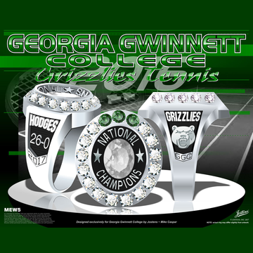 Georgia Gwinnett College Women's Tennis 2017 National Championship Ring