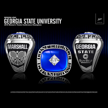 Georgia State University Women's Tennis 2016 Sun Belt Championship Ring