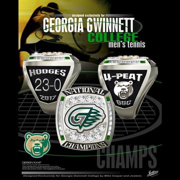 Georgia Gwinnett College Men's Tennis 2017 National Championship Ring