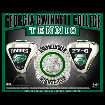 Georgia Gwinnett College Men's Tennis 2018 National Championship Ring