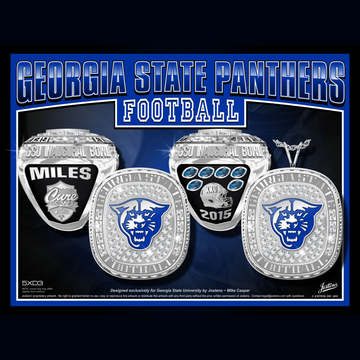 Georgia State University Men's Football 2015 Cure Bowl Championship Ring
