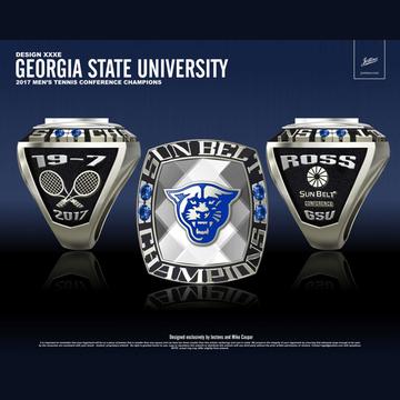 Georgia State University Men's Tennis 2017 Sun Belt Championship Ring