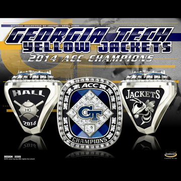 Georgia Tech Men's Baseball 2014 ACC Championship Ring